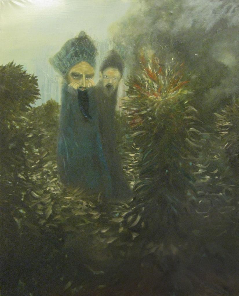 burnin'bush-2012-olio su tela-200x160 cm