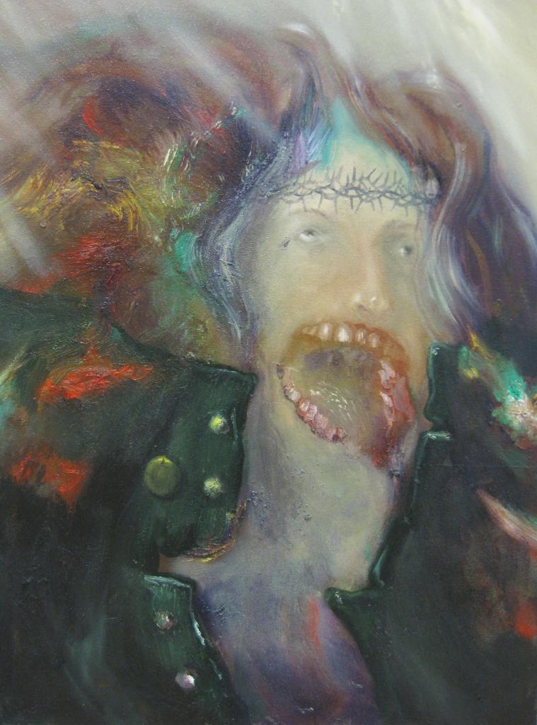 trasfigurazione di un metallaro (durante il concerto dei Judas Priest)-2013-80x60 cm-olio su tela