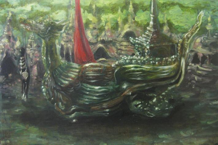il coso funebre- 2013- 60x40 cm- olio su tela