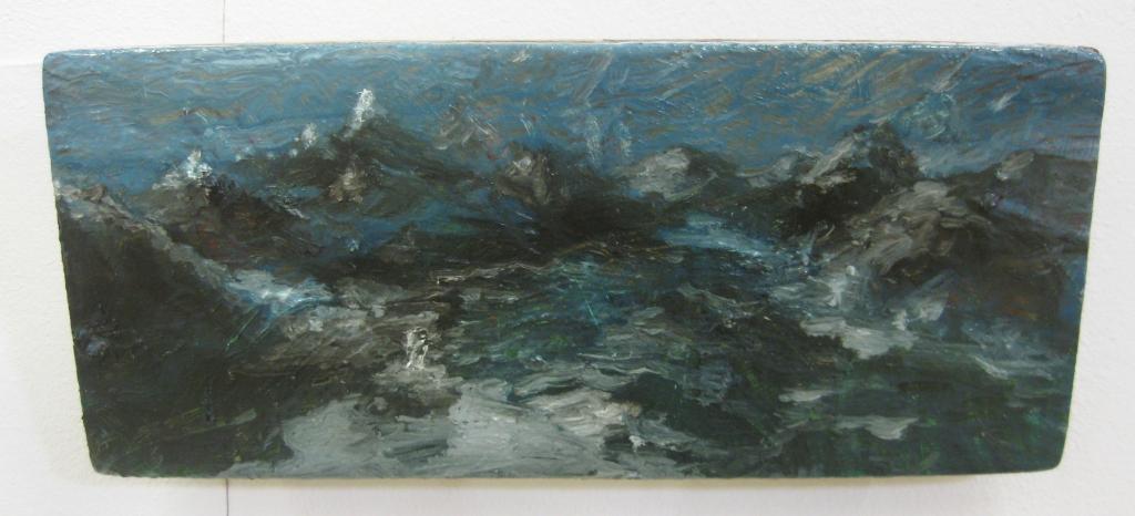 La nascita di Odino- 2013 -13x 26 cm- olio su tela