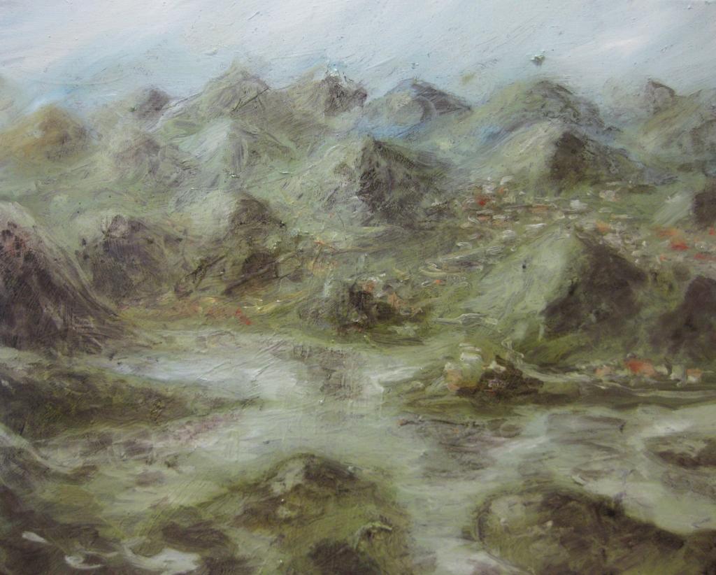 pisciatina sconta tra i monti siciliani-2013 -40x50 cm- olio su tela