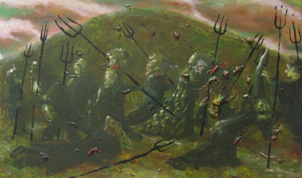 i forconi- 2014- 30x50 cm-olio su tela