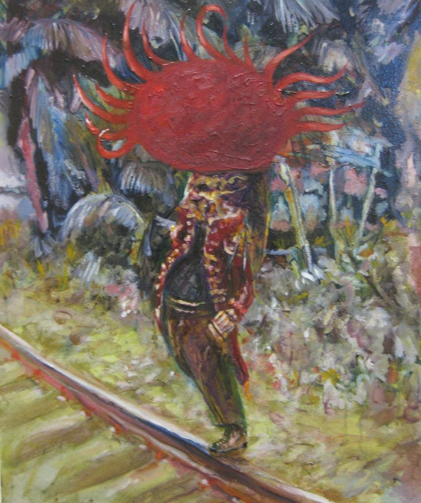 il suicida-2013-60x50 cm- olio su tela