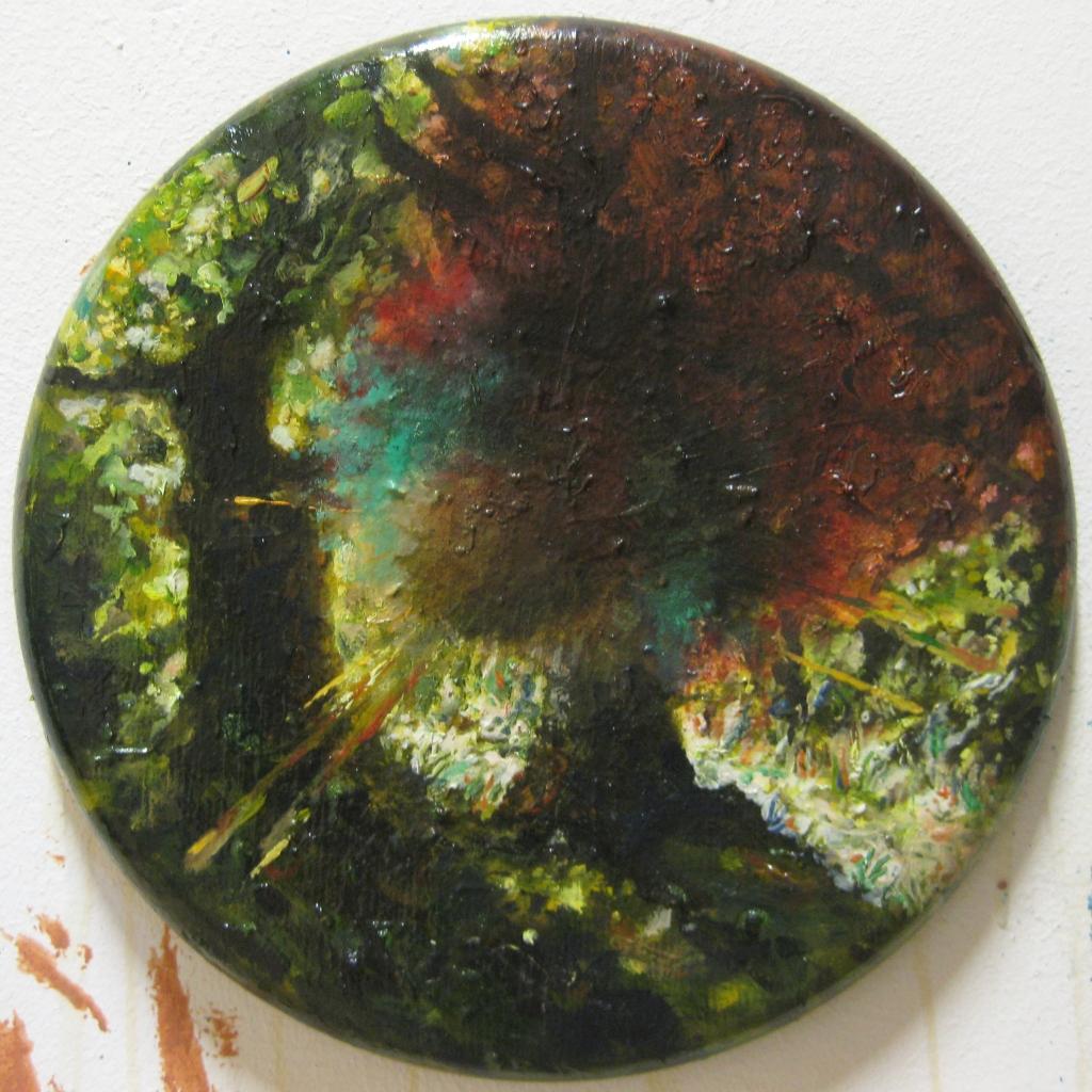 wow effect- 2014- 30x30 cm- olio su tavola