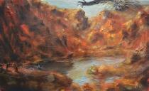 sacrificio di clitennestra-2014-30x50 cm-olio su tela