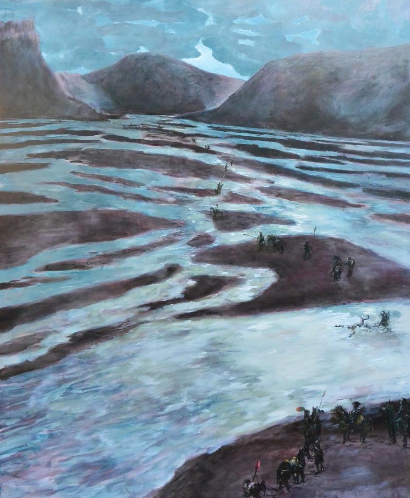 sulla strada per damasco-2014-olio su tela-220x174 cm
