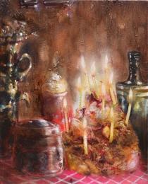 buon compleanno-2015-olio su tela -50x40 cm
