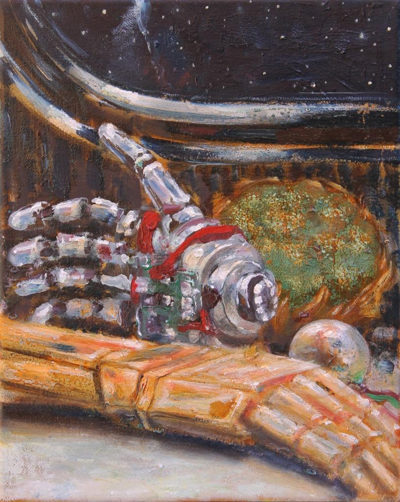 bionic hand and one cavolo-2015-olio sutela-20x25 cm