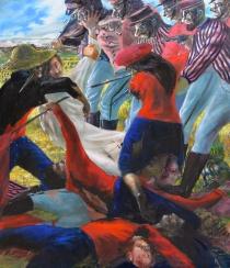 battaglia del grano-2015-217x178 cm-olio su tela
