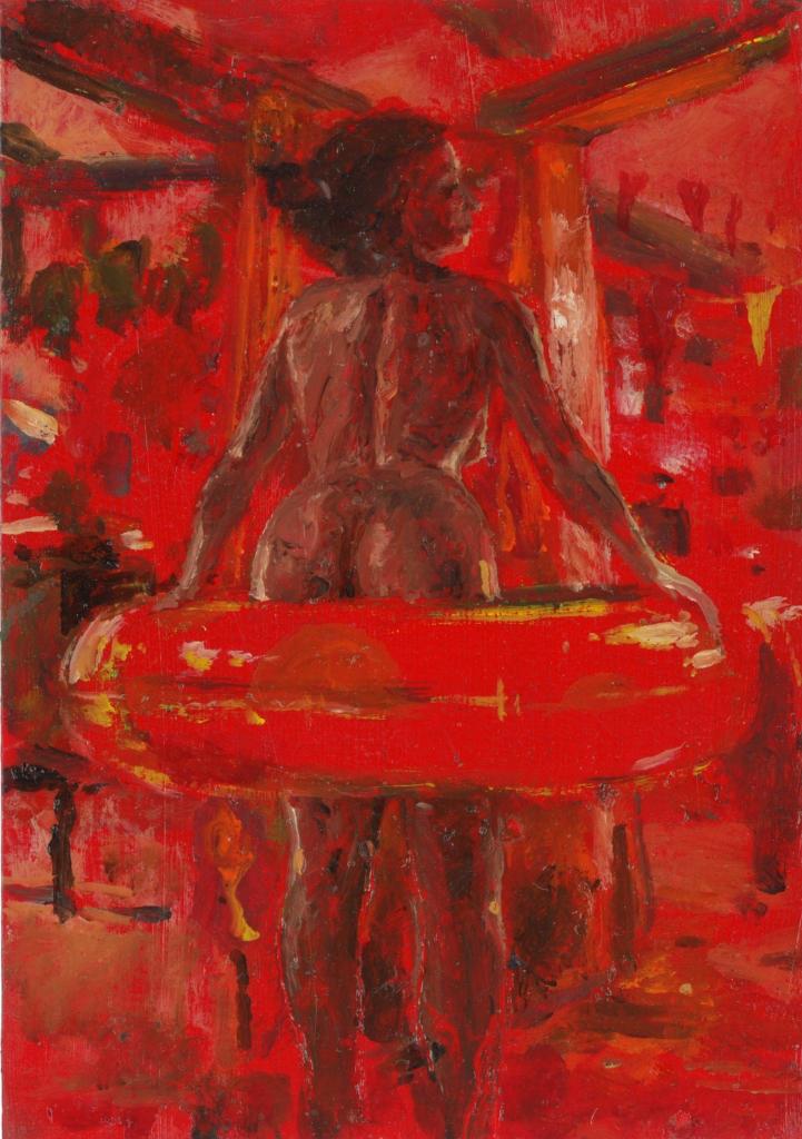 il-ciambellone-di-natale-olio-su-carta15x105-cm2016